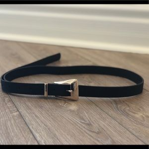 Brand New Black Belt with Gold Buckle